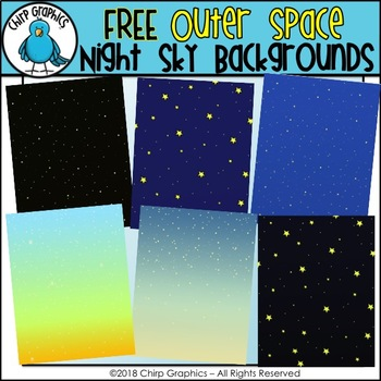 FREE Outer Space Starry Night Background Papers - Chirp Graphics