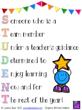 {FREE} Student Classroom Sign