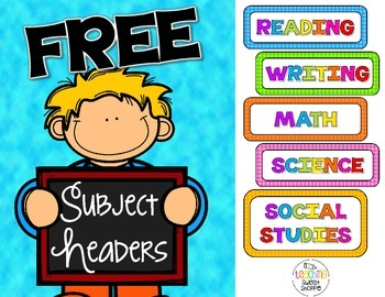 FREE Subject Headers