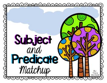 FREE Subject Predicate Matching Activity