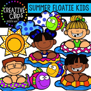 FREE Summer Floatie Kids {Creative Clips Digital Clipart}
