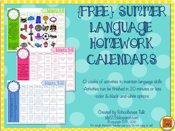 Homework calendars for your           school year   October   June  Please