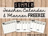 Summer Teacher Planner