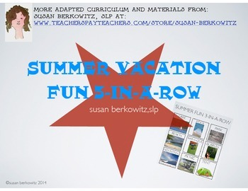 FREE! Summer Vacation Fun Game for Vocabulary Practice
