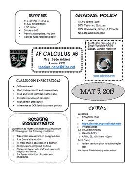 FREE: Syllabus 2014 (Editable)