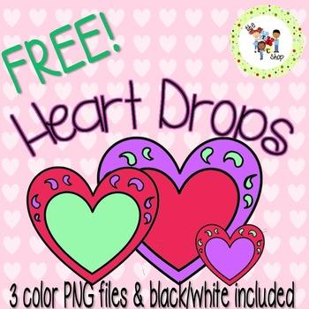 FREE! TLC Clip Art: Heart Drops