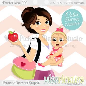 Teacher Mom 002, Teacher Avatar- Commercial Use Character Graphic