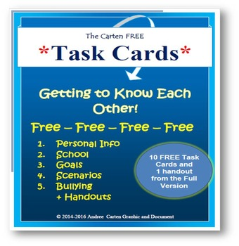 Task Cards on Getting to Know Each Other