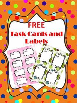 Labels - Task Card Templates - FREEBIE