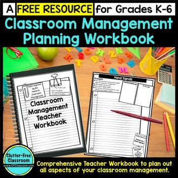 FREE Teacher Workbook For Classroom Management Planning: G