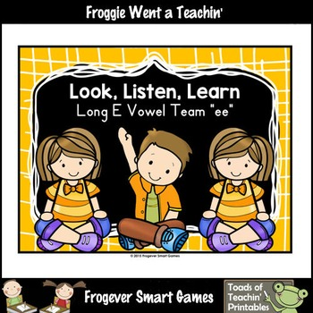 Vowel Team Posters--FREE Look,Listen,Learn 4 More Long E V