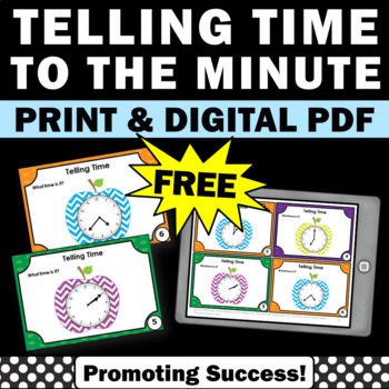 telling time task cards games activities free download printable