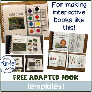 FREE Template for Creating Adapted Books for Kids with Dis