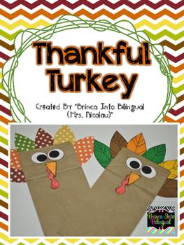 FREE Thankful Turkey Paper Bag Craft
