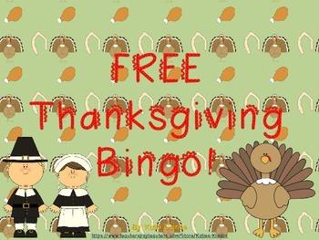 FREE Thanksgiving Bingo!