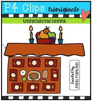 P4 FREE Thanksgiving Dinner Table (P4 Clips Trioriginals)