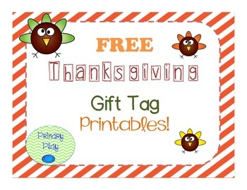 Thanksgiving Gift Tag Printables