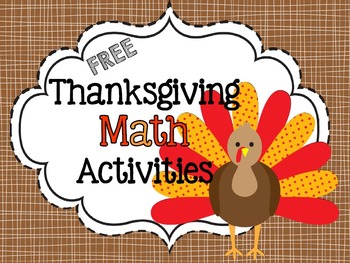 FREE Thanksgiving Math - Area, Perimeter, and Multiplication