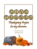 FREE! Thanksgiving Projects for the whole month!  (English