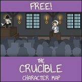 FREE The Crucible Character Map Worksheet