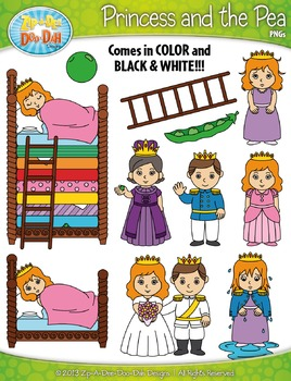 {FREE} The Princess and the Pea Clip Art Set — Over 50 Graphics!