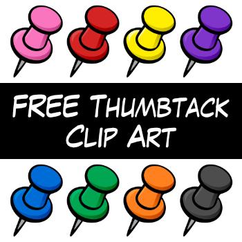 FREE Thumbtack Clip Art