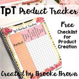 FREE TpT Seller Product Tracker