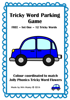 FREE Tricky Word/Sight Word Parking Game - Set 1 - Jolly Phonics