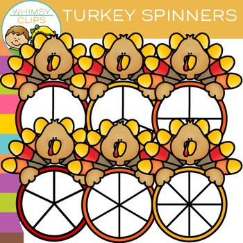 FREE Turkey Spinners Clip Art
