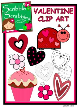 VALENTINE'S DAY CLIP ART with 10 pieces