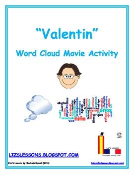 "FREE ""Valentin"" Word Cloud Movie Activity"