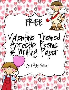 FREE Valentine Acrostic Poems and  Writing Paper