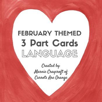 Valentine Montessori 3 Part Card