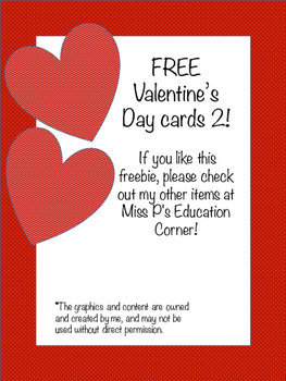 FREE Valentine's Day Cards 2
