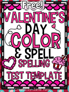 https://www.teacherspayteachers.com/Product/FREE-Valentines-Day-Coloring-Spell-Spelling-Test-Template-2365472?aref=kqb4bdr7