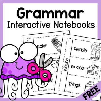 FREE Verb, Noun & Adjective Interactive Notebooks (Grammar