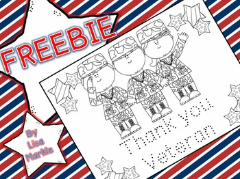 FREE Veteran's Day Coloring and Tracing Activity