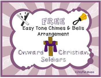 FREE WORSHIP HYMN Easy Tone Chimes & Bells ONWARD CHRISTIA