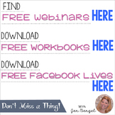 FREE Webinar and Facebook Live Information from Jen Bengel