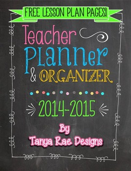 FREE Weekly Lesson Plan Pages - Chalkboard & Brights