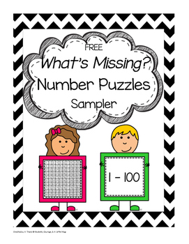 FREE What's Missing? Number Puzzles Level 1 Sampler
