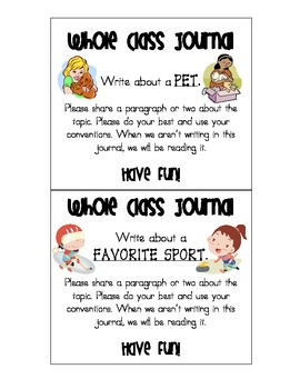{FREE} Whole Class Journal Covers