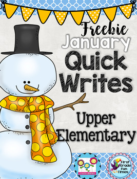 FREE Winter Activities January Quick Writes Writing Prompt