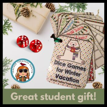 FREE Winter CHRISTMAS gift for students Math DICE Teacher