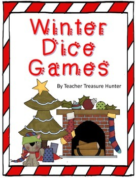 FREE Winter Dice Game Math and Reading Teacher Treasure Hunter