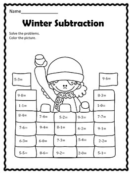 FREE:  Winter Subtraction