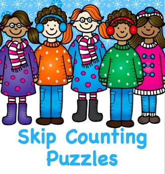 FREE Winter and Christmas Skip Counting Games