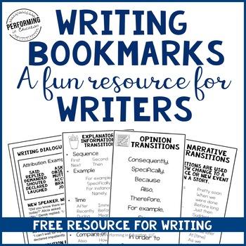 FREE Writing Bookmarks