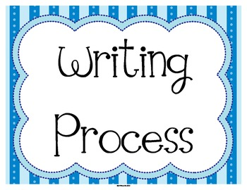 FREE Writing Process Status Posters in Blue