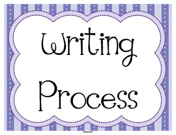 FREE Writing Process Status Posters in Purple